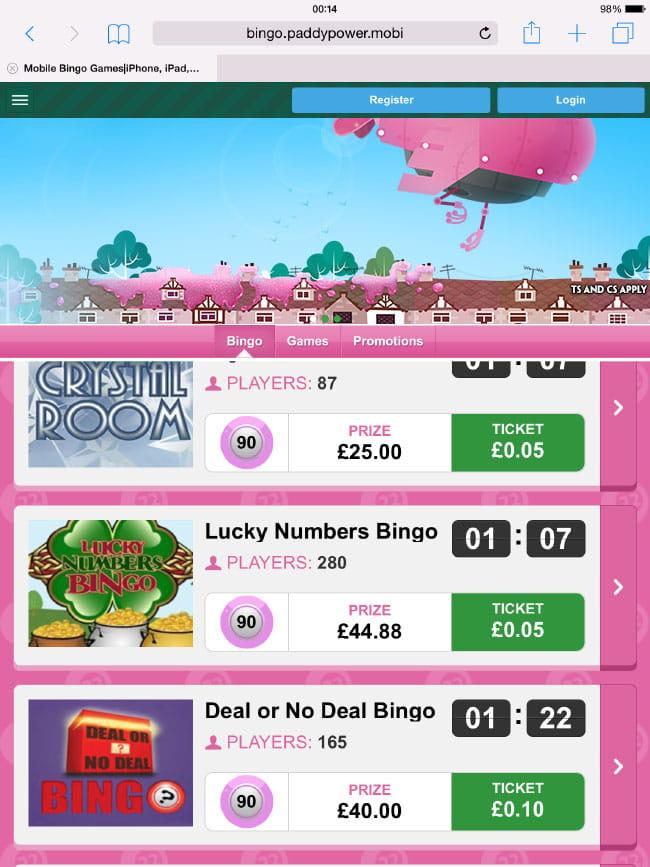 Paddy Power Mobile Bingo