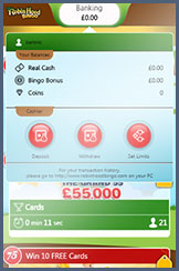 Banking at Robin Hood Bingo mobile