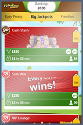 Big jackpot prizes on mobile at Robin Hood bingo