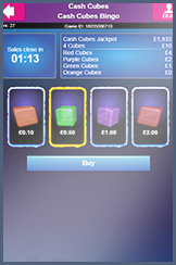 Cash Cubes: the new bingo room for Bucky mobile players