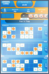 Costa Bingo Room on a Mobile Device