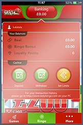 Deposit and Withdraw on the Tasty Bingo Mobile App