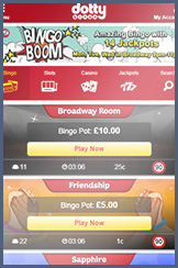 Dotty and their bingo lobby for mobile players