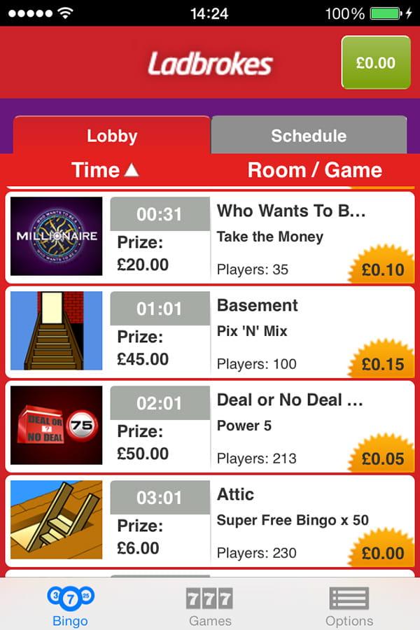 ladbrokes bingo app