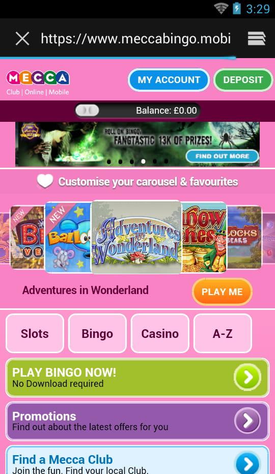 Giggle Bingo  Homepage