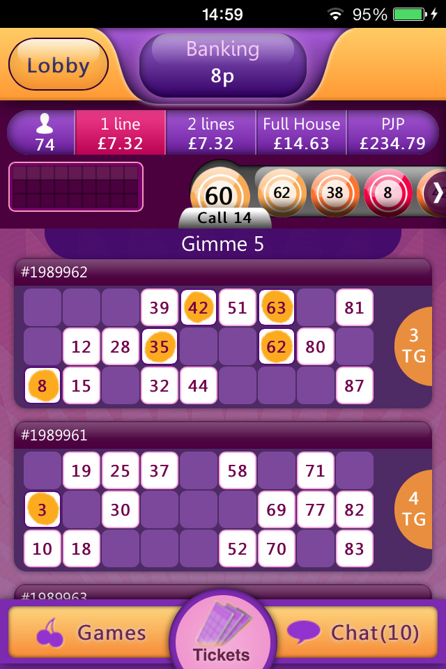 bingo on mobile