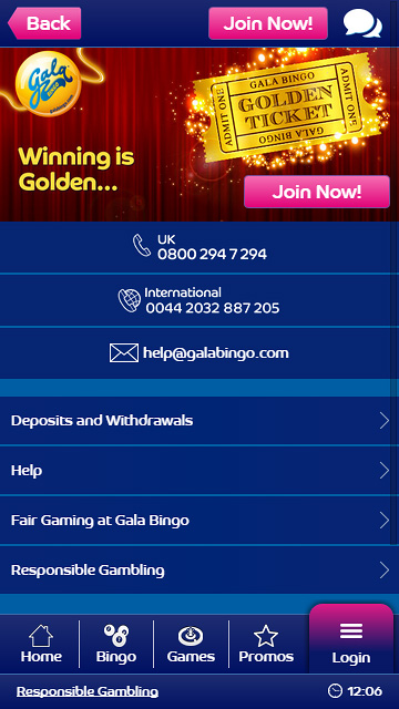 Gala bingo mobile app