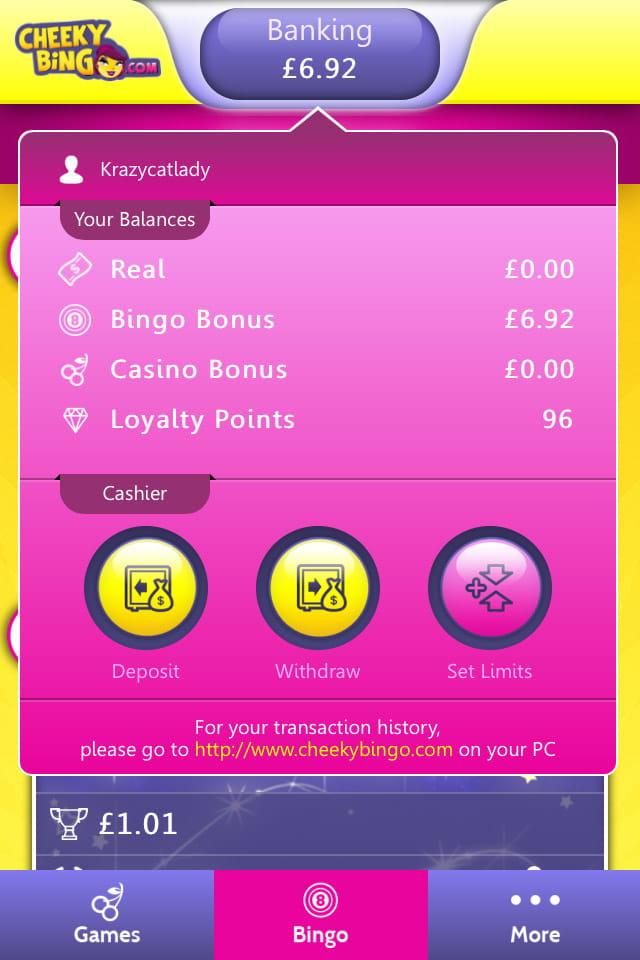 cheeky bingo games