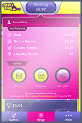The Cheeky Bingo Mobile Site Allows Deposits and Withdrawals